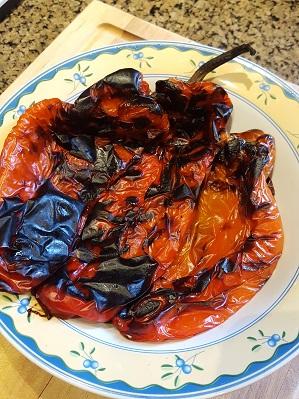 September Harvest: Sweet roasted red peppers!